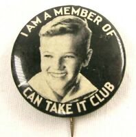 c 1930 Vintage Celluloid Pinback Pin Button Member Of The I Can Take It Club