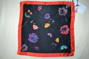 Paul Smith Mens Floral Silk Pocket Square Brand New