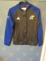 ADIDAS Authentic KANSAS JAYHAWKS Team Issued Jacket Sz Small S