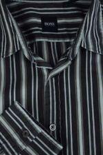 Camisas de vestir de hombre negras HUGO BOSS de 100% algodón