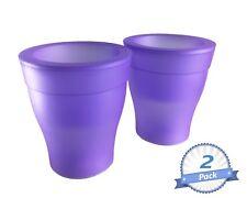 3 Color Changing Indoor Outdoor LED Light Flower Pot Purple Body 2 pack