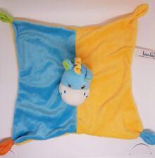 Doudou Plat BAMBIA Lidl Ane Cheval Girafe Bleu Orange Jaune vert Stokomani NEUF
