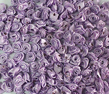 50/100pcs 12mm flower bud Satin Ribbon Rose Flower DIY Craft Wedding Appliques