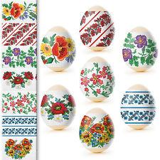 Ukrainian Easter Egg Wraps,Pysanka,Pysanky Egg Heat Shrink Sleeves,7 Hen Size#46