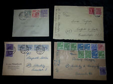 Alliierte Besetzung / Deutsche Post / SBZ - 4 x  Briefe, R-Briefe, Einschreiben
