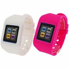 RUBZ Blanc & Rose Montre Bracelet Bande étui coque Apple iPod Nano