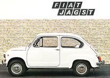 1970 Fiat Jagst Original German Car Sales Brochure Catalog - 600 750 1969