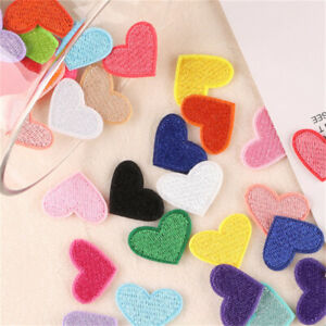 20-pack Sewing On Patches Fabric Hearts For Clothes DIY Art Decorations 26x20mm