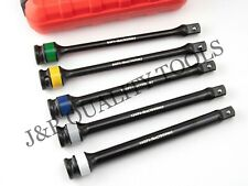 """1/2"""" DR TORQUE EXTENSION BAR STICK SET COLOR & LETTER CODED WITH CASE"""