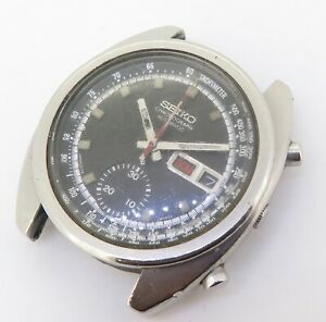 Vintage Seiko Chronograph Automatic Mens Steel Watch 6139 $1 No Res