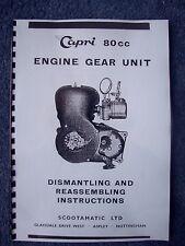 Capri 80cc Scooter Engine Gear Unit Dismantling Reassembling Instructions 1960-3