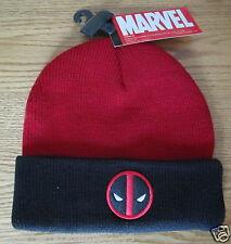 Deadpool Wade Wilson X-Men Winter Ski Hat Marvel Comics Brand New - RED