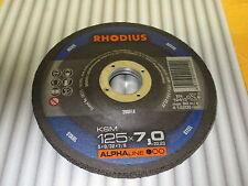 4 Stück Rhodius Schruppscheiben KSM 125 x 7,0 x 22,23 mm