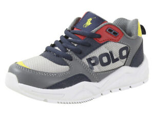 Polo Ralph Lauren Little/Big Boy's Chaning Sneakers Grey/Navy/Red/Yellow