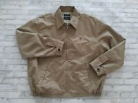 Nautica Men's Plaid Check Long Sleeve Full Zip Harrington Jacket Beige L/XL