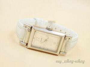 COACH 7.859.148 SWISS Silver Dial White Leather Band Ladies Watch