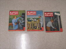 3 Radio Craft Magazines - 1947 to 1948 - 2 Very Good & 1 Good