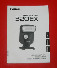 Canon Speedlite 320EX Bedienungsanleitung-Instruction Manual-Mode D´ Emploi