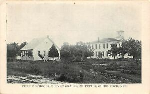 H66/ Guide Rock Nebraska Postcard c1910 Public Schools Eleven Grades  37