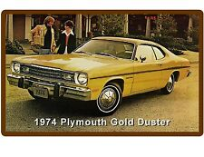1974  Plymouth Gold Duster Yellow  Auto Refrigerator / Tool Box  Magnet