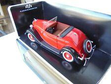 SOLIDO Prestige 1:18 diecast 1934 FORD Roadster V8 Red Black fenders w/b  NM BOX