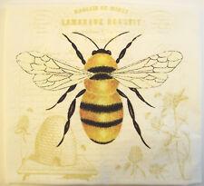 Alice's Cottage Cotton Flour Sack Kitchen Tea Towel Bee - NEW