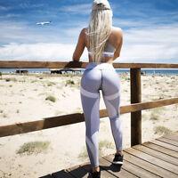 Damen Stretch Hose Stoffhose Skinny Leggings Leggins Sporthose Fitnesshose NEW