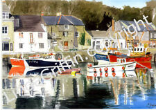 LINDA GRIFFIN OPEN EDITION HIGH QUALITY PRINT OF PADSTOW CORNWALL