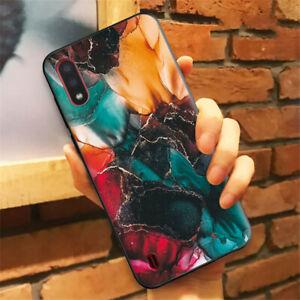 SAMSUNG GALAXY A22 A32 A42 A52 S10 S20 (5G) MOBILE PHONE CASE GREEN/BLACK ART