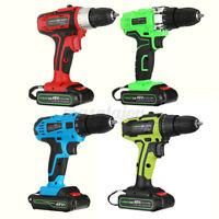 48V Cordless Combi Drill Impact Driver LED Worklight Screwdriver +Li-Ion  %