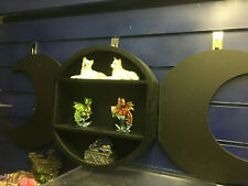 Black Triple Moon Shelf Shelving Display Gothic Wall Art Wicca Decoration