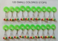 120 Fishing Rubber Float Bobber Stops Pitch Sinker small size new USA colored