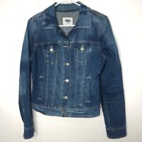 Old Navy Size Small Trucker Jacket Medium Wash Blue Jean Denim Casual Buttoned