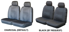 PAIR WATER RESISTANT CANVAS CAR SEAT COVERS FOR NISSAN XFN RWD UTE