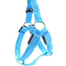 Safety Dog Pet LED Flashing Light Glow Collar Belt Harness Leash Chest Strap