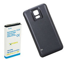 Long Life 7800mAh Extended Battery + Cover for Samsung Galaxy S5 i9600 XpBlue