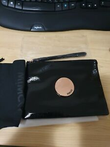 NEW STOCK! BNWT MIMCO BLACK WAVER MEDIUM POUCH ROSE GOLD BADGE  RRP99 -Express
