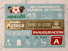 World Cup Mexico 86 Openning Ceremony Ticket