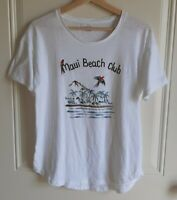 Madewell Womens Crew White Maui Beach Club Graphic Tee Shirt Top Size Medium