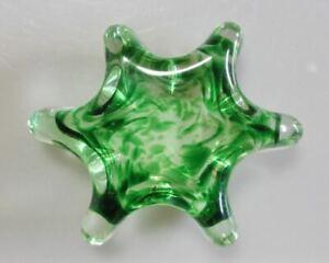 Heavy crystal paperweight by Australian glass artist Geoffrey Dickinson