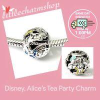 New Authentic PANDORA Disney Alice's Tea Party Charm - 791896ENMX RETIRED