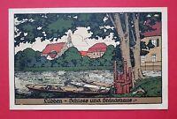 AK Künstler Steinzeichnung LÜBBEN im Spreewald 1924 Schloss Ständehaus   ( 23337