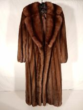 REVILLON MINK COAT WITH SABLE COLLAR...SIZE 6
