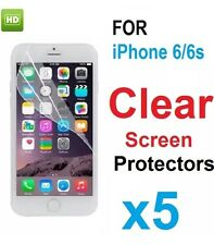For New iPhone 6/6S Clear Screen Protector Film Cover Guard 5-in-1 Pack