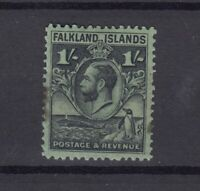 Falkland Islands KGV 1929 1/- SG122 MH (Tone Spot) JK2478