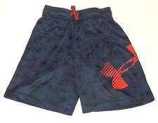 "Under Armour Youth Boys ""Big Logo"" Navy Blue Basketball Shorts Size Small (8)"