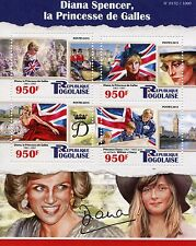 Togo 2015 MNH Diana Spencer Princess of Wales 4v M/S Royalty Stamps