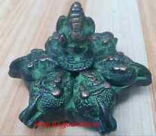 The old Tibetan Buddhism bronze elephant jewelry box