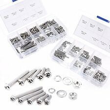 560-Pieces M2 M3 Pan Head Phillips Stainless Steel Screws Bolts Nuts Lock And