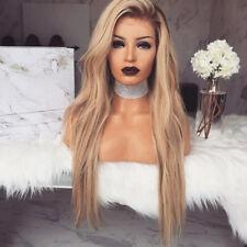 Women Blonde Gradients Long Curly Hair Wavy Full Wigs Heat Resistance Party
